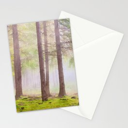 Scottish forest watercolor painting #2 Stationery Cards