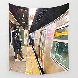 Arriving Q Wall Tapestry