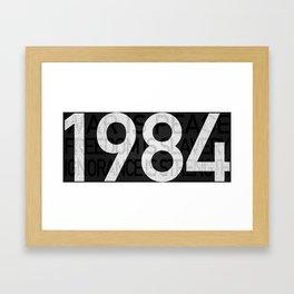 1984 INGSOC Print Framed Art Print