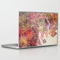 tokyo Laptop & iPad Skins featuring Tokyo by MapMapMaps.Watercolors