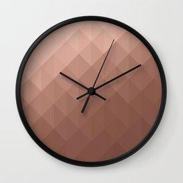 Rose Gold Geometry Wall Clock