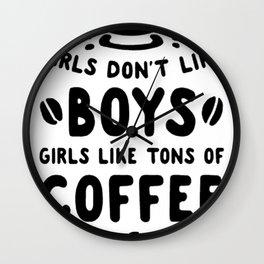 GIRLS DON'T LIKE BOYS Wall Clock