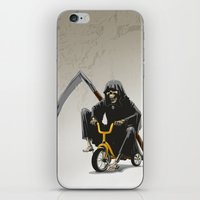 death iPhone & iPod Skins featuring Death by Antracit