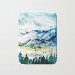 Mountain Landscape Bath Mat