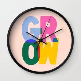 Grow: Peach Edition Wall Clock