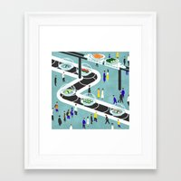 sushi Framed Art Prints featuring Sushi by Alexey Khamkin