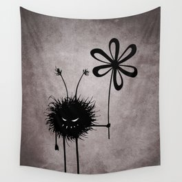 Evil Flower Bug Wall Tapestry