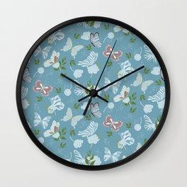 Butterfly Flowers 1 Wall Clock