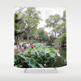Shanghai Liu Garden | Jardin Liu Shower Curtain