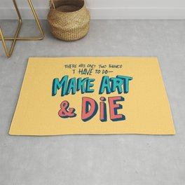 Make Art & Die Rug