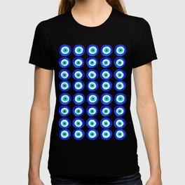 Evil Eye Amulet Talisman - on black T-shirt