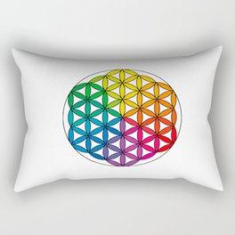 Flower of Life - Rainbow Directional Rectangular Pillow