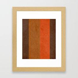 Shades of Brown Framed Art Print