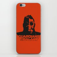 starlord iPhone & iPod Skins featuring Starlord by bookotter