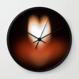 Camera blur flame heart Wall Clock