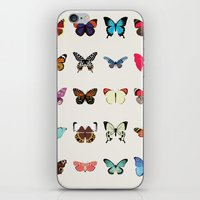 butterflies iPhone & iPod Skins featuring Butterflies by Dorothy Leigh