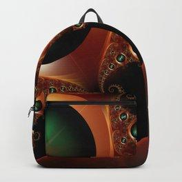 Brushed Metal Discs Backpack
