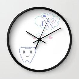 Clean Teeth Wall Clock