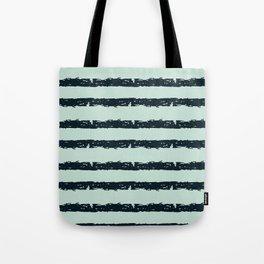 Texture Stripe Deep Blue and Light Cyan Tote Bag