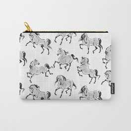 Dancing Horses grey Carry-All Pouch
