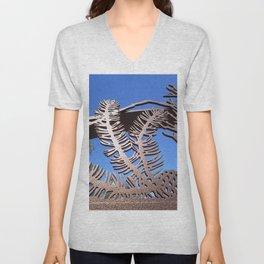 Pine branch blue skies Unisex V-Neck