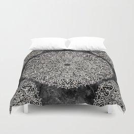 MANDALA ON BLACK MARBLE Duvet Cover
