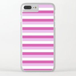 Stripes Of Pink Clear iPhone Case