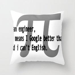 Engineer Skills Throw Pillow