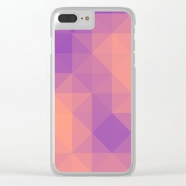 Triangulated grid #6 Clear iPhone Case