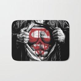 Superman Blood Logo Bath Mat