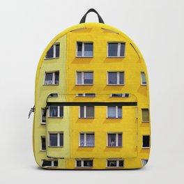Yellow Urban Geometry Backpack