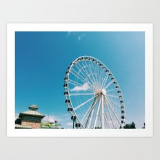 White Wheel Art Print