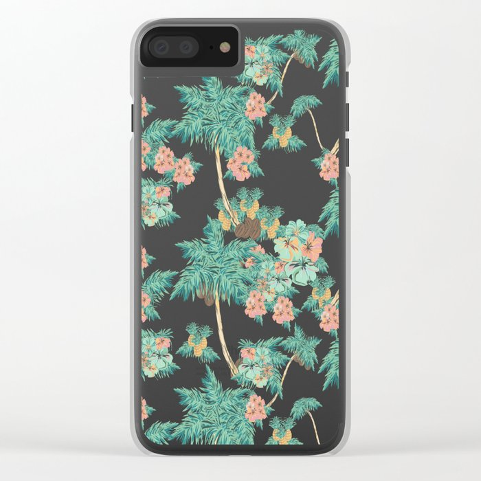Tropical Kitch Clear iPhone Case