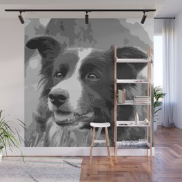 Portrait Of A Border Collie Wall Mural
