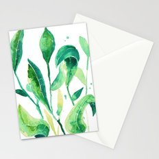 new water color leaves Stationery Cards