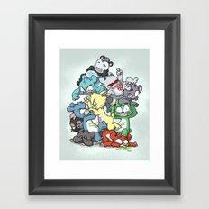 Bear Pile Framed Art Print