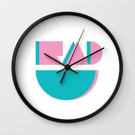 Retro Rad Wall Clock