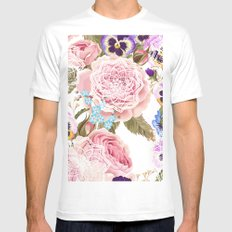 Spring flowers with mandalas Mens Fitted Tee White MEDIUM