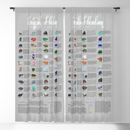Crystal Healing Guide Blackout Curtain