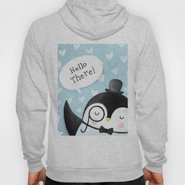 Hello there! Cute Penguin Illustration Hoody