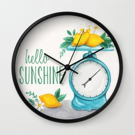 Lemon Kitchen Scale 1 Wall Clock