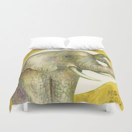 Elephant Moon Duvet Cover