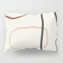 Minimal Abstrac Line Shapes  Pillow Sham