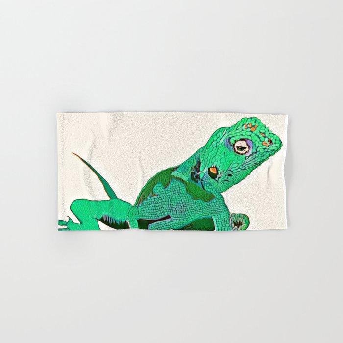 Gecko Hand Amp Bath Towel By Tinajostdesigns Society6