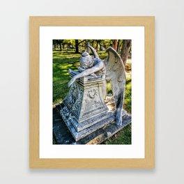 Grieving Angel (Grove Hill Cemetery, Dallas TX) Framed Art Print