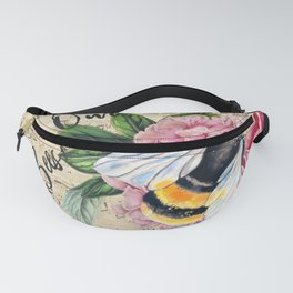 Save Our Bees Pink Peony Fanny Pack