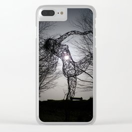 AN ECLIPSE OF THE HEART FOR THE JOY OF SPRING WIRE SCULPTURE Clear iPhone Case