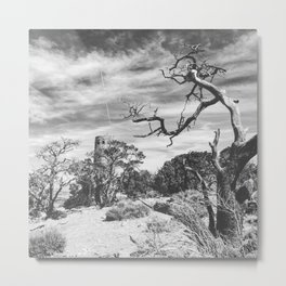 Desert View Watchtower Metal Print