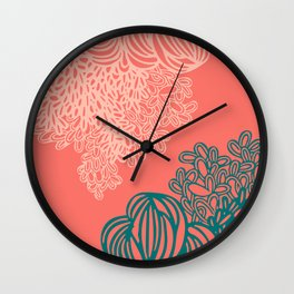 Floral Reef Wall Clock