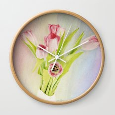 Colors of Spring Wall Clock